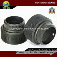 Caso de giro do CNC para as peças de alumínio do CNC com corte do fio