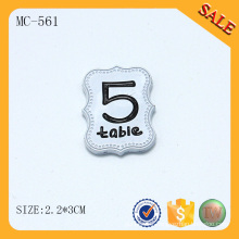 MC561 Silver painted OEM metal type 3d metal brand logo