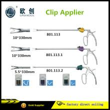 Clip aplicador laparoscópico reutilizável