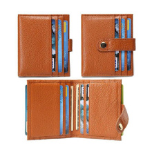 Hottest Leather Credit Card Holder Case with Rfid