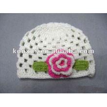 Sombrero hecho a mano del ganchillo del bebé