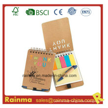 Mini Spiral Notebook with Memo Stickery