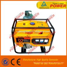 CASA uso de generador de GLP, 6.5KW, combustible Dual, de fase 3