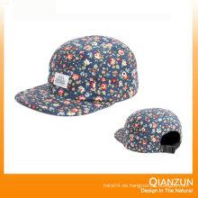 Einfacher Floral 5 Panel Snapback Hut