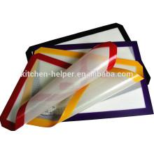 Nueva llegada fabricante profesional de grado alimentario suave antiadherente de fibra de vidrio de silicona Baking Mat