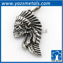 Customize design pendant, custom made Indian chief pendant