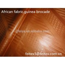 Африканских одежды ткани золотого цвета полиэфира жаккарда Гвинея парчи дамасской базен riche дешевые оптовая новое прибытие складе