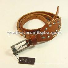 Studs Cinturón de cuero de señora Cinturón de cuero estrecho