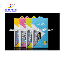 Wholesale Custom Mobile Phone Tempered Glass Film Packaging Box with Handle