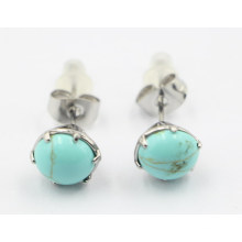 High Quality Fashion Stainless Steel Earring with Gemstones
