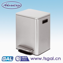 Square soft close dustbin