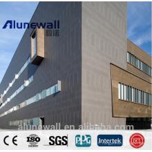 Panneau composite de cuivre d'Alunewall CCP / façade de mur extérieur / matériaux constrcution avancés