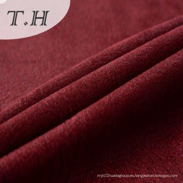 Tela de gamuza tejida de bronce rojo 270GSM