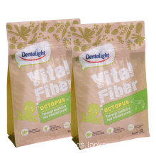 Block Bottom Square Paper Packaging Bolsa de comida para perros