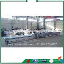 Linha de produção de pré-tratamento de espargos para congelamento rápido
