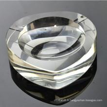 Cendrier de cigare de coeur en verre fait à la main en cristal (ks13024)