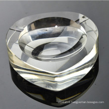 Handmade Crystal Glass Heart Cigar Ashtray (KS13024)