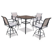 Outdoor Sling Möbel 5pc Restaurants Gruppe - 2 * 1 textilene