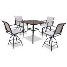 Toile extérieure mobilier 5pc dînant ensemble - 2 * 1 textilene