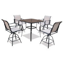 Outdoor sling furniture 5pc dining set-2*1 textilene