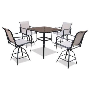 Outdoor sling furniture 5pc dining set-2*1 textilene