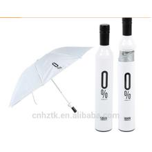 Botella de vino paraguas / personalizar paraguas / 21 pulgadas / lluvia sombra