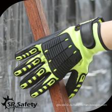 SRSAFETY TPR сшивание задних противотуманных механических рабочих перчаток