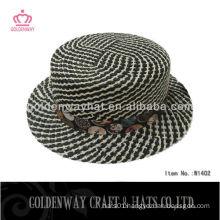 designer straw boater hat