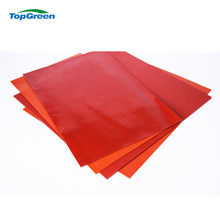 mytext 0.3mm white red transparent SILICON Rubber Sheet supplier