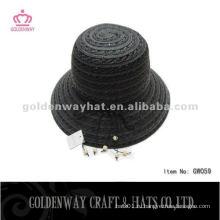 Женская черная шапочка для боулера GW059