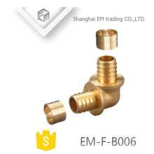 EM-F-B006 encaixe de tubulação de cotovelo de bronze para mangueira de água
