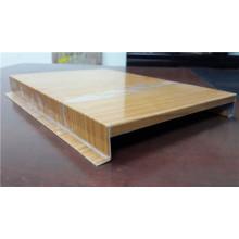 Panneau de plafond en bois et en aluminium