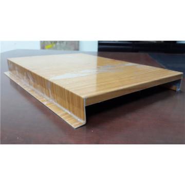 Tablero de techo de aluminio de grano de madera