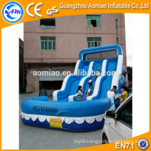 Giant inflatable slides for sale, adult inflatable snow slide with pool