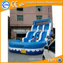 Giant slides infláveis para venda, adulto slide de neve inflável com piscina