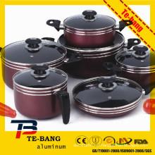 Hot Sale et Eco-friendly Green Natstick grand pot de cuisine en aluminium
