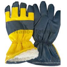 NMSAFETY Нитрил 2014 пропитанной ткани polartec перчатки