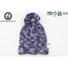 Chapeau de tricot chaud à la mode, chapeau Jacquard tendance, Bonnet