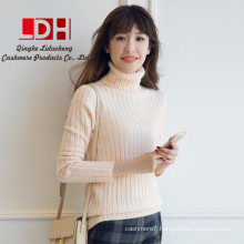 High Quanlity 2017 Winter Turtleneck Thick cashmere Pullovers Female tight Sweater