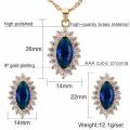 Wholesale Stainless Steel Italian Cz Stud Earring Jewelry Set