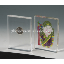 transparent acrylic embedment frames for coin display stand