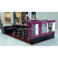 Custom Design Equipamento de salão de beleza Publicidade de vidro de madeira personalizado Quadros de barra de unha para manicure