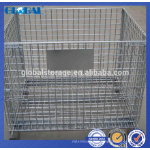Металлическая клетка хранения ячеистой сети контейнер для склад