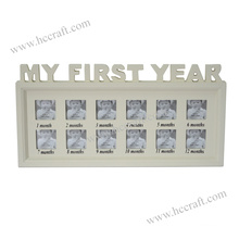 Collage Words Wooden Photo Frame for Home Deco