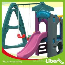 Large Kids House Indoor Playground Plastic SlideToys LE.HT.022