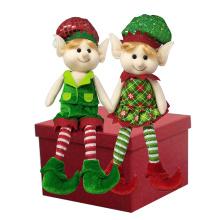 Christmas magic elf sitting stuffed plush doll