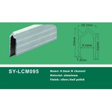Aluminium 9,5 mm M Kanalprofil
