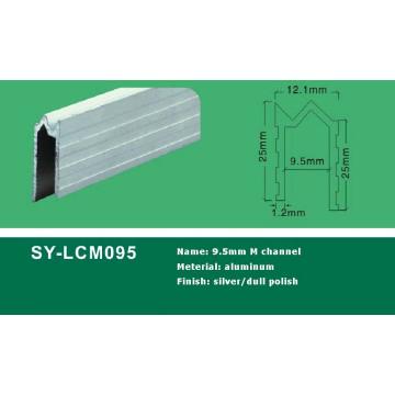 Perfil de canal de alumínio 9,5 mm M