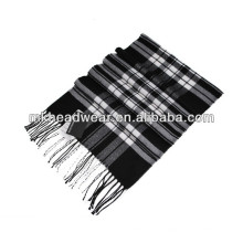 thick check polyester woven scarf