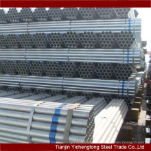 Grande estoque quente galvanizado ERW soldada A106 grau de tubos de aço carbono